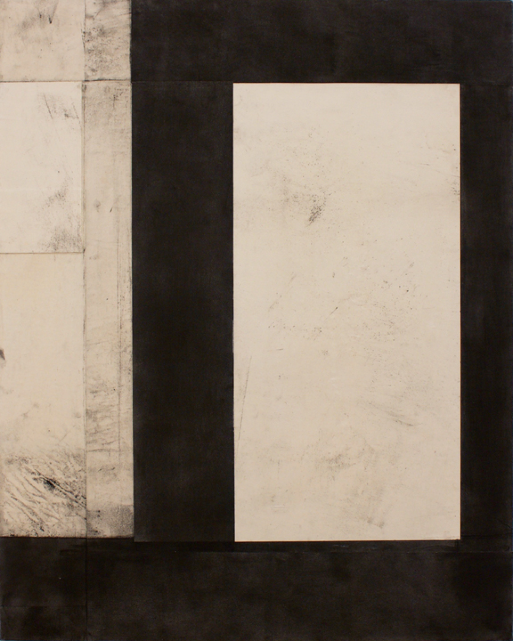 "Telemark XXVII  Laura Duerwald LAD107 Graphite, Paper, and Acrylic on Canvas 30"" x 24"""