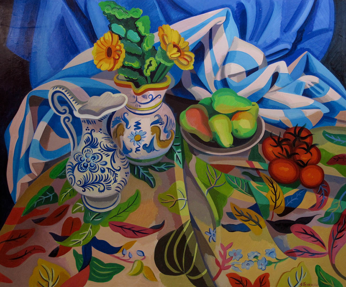 """5 Ripe  Joan Steinman ST938 Oil on Canvas 30"""" x 36"""""""