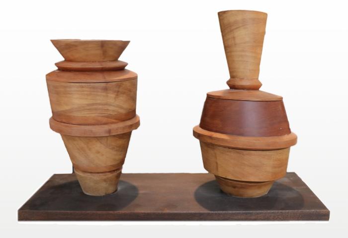 "Paolo Francesca  John Christensen CR221 Wood 12"" x 19"" x 7"""