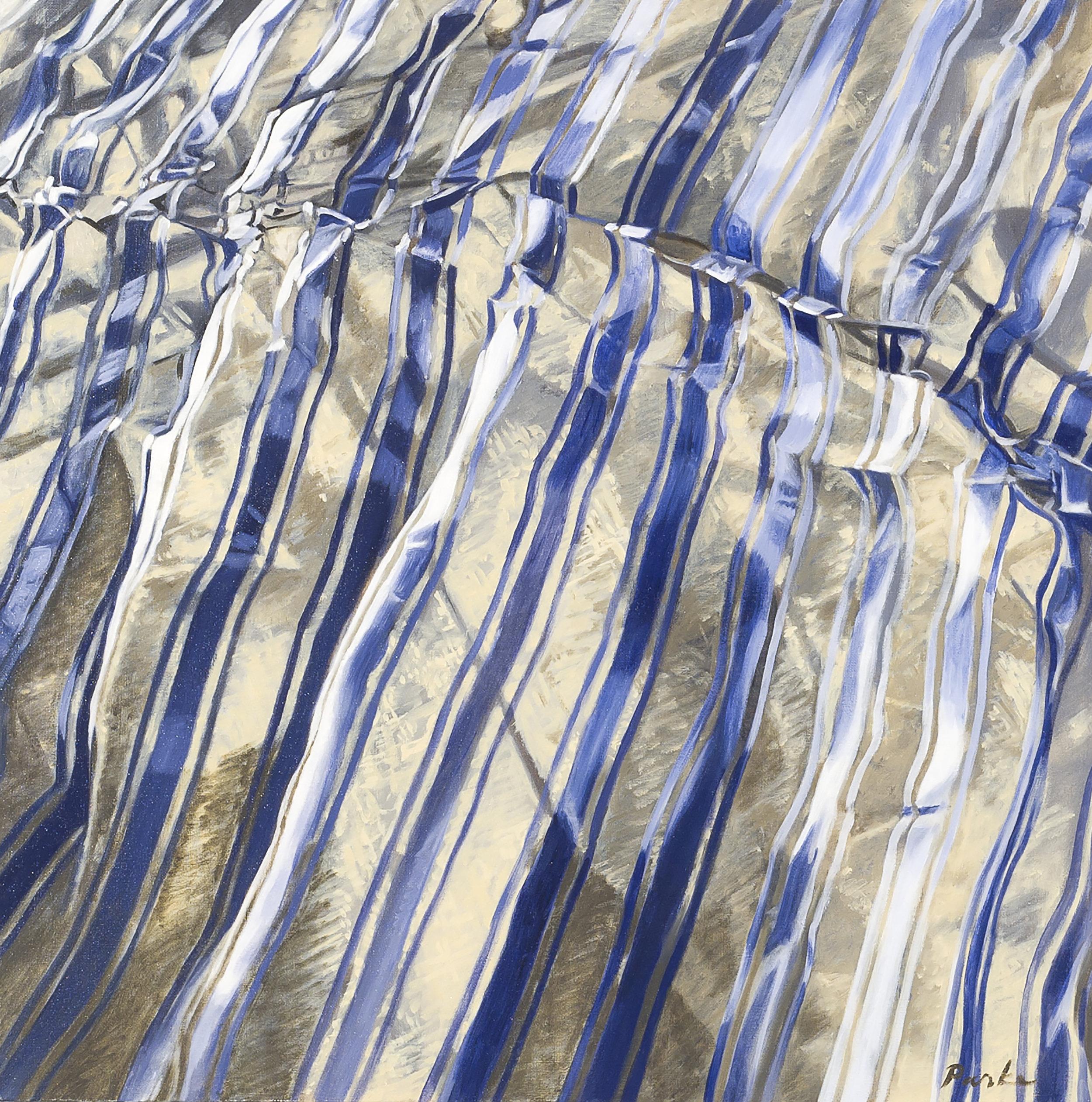 "Scarf  Leslie Parke LP191 Oil on Linen 24"" x 24"""