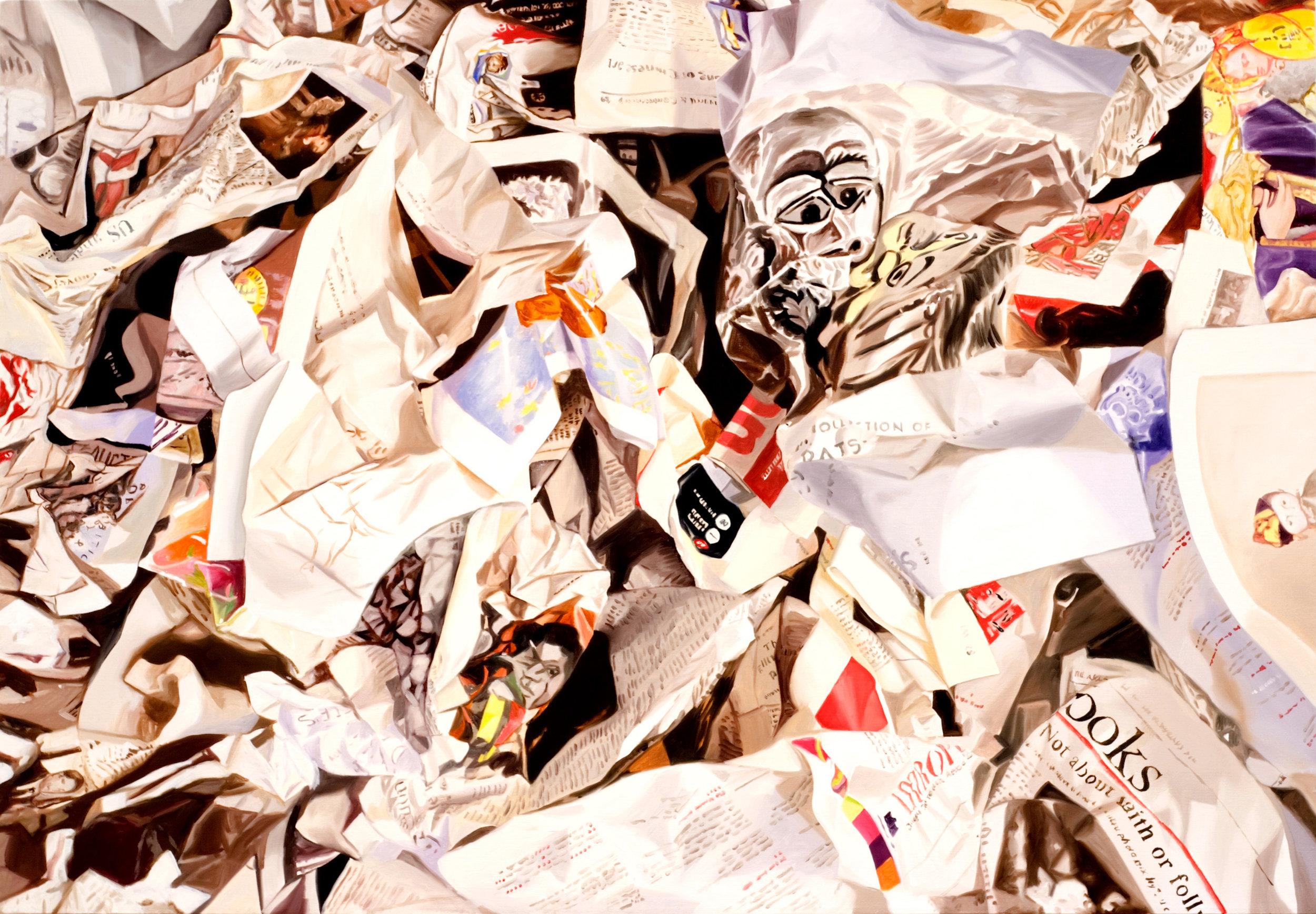 "Art Newspaper  Leslie Parke LP213 Oil on Linen 30"" x 40"""