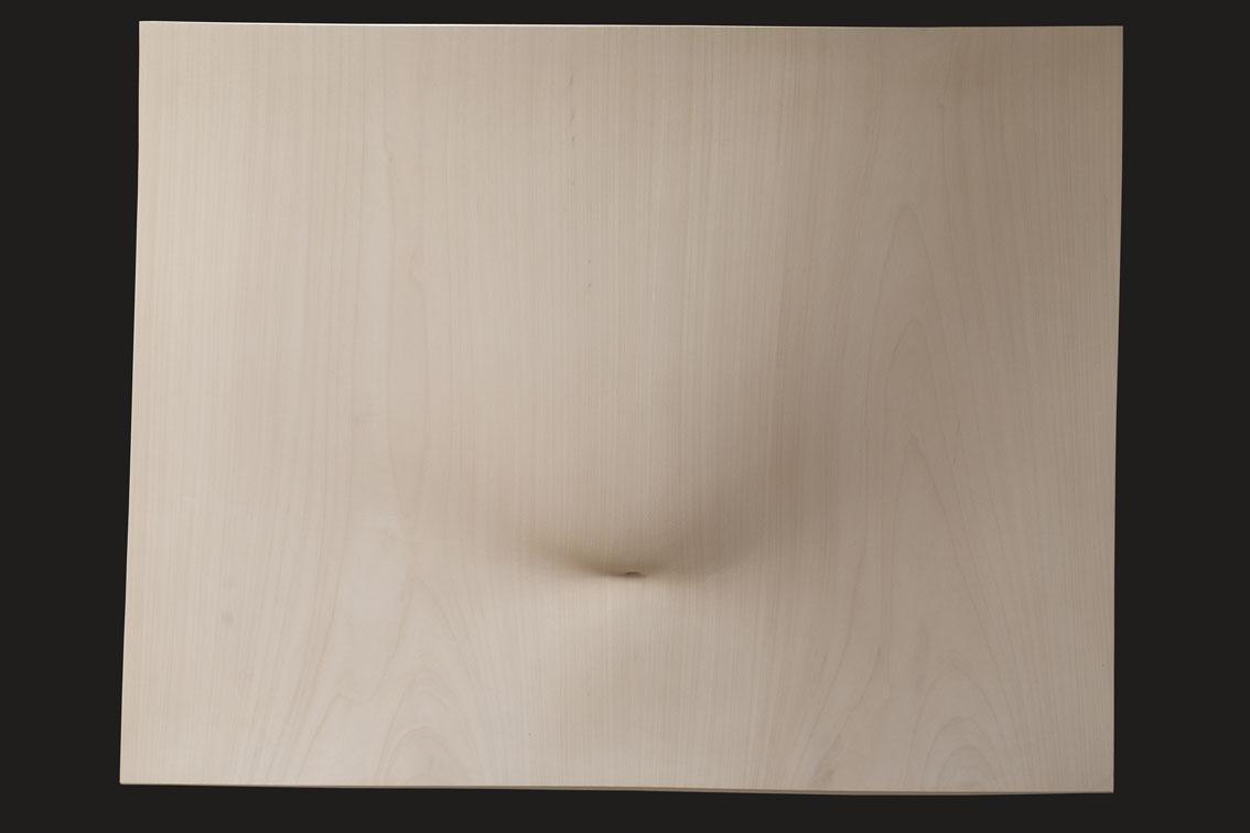 """Mousse, agrafée en biais  Christian Renonciat Ayous Wood 46.5"""" x 53"""""""