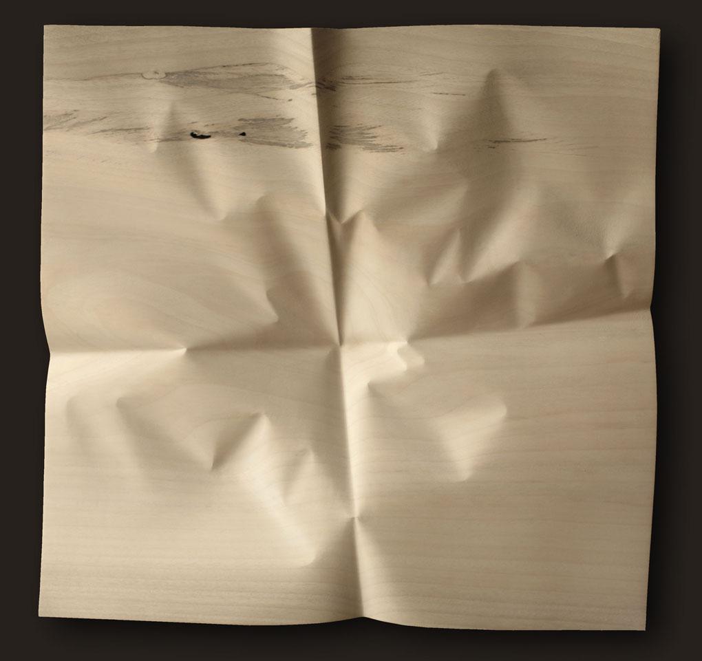 """Papier déplié 4 plis 5  Christian Renonciat Ayous Wood 27"""" x 28"""""""