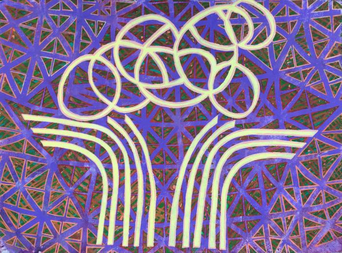"""Untitled  Davey Eldridge DY143 Acrylic on Canvas 22"""" x 30"""""""