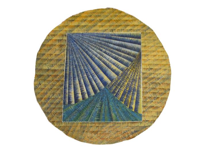 "Untitled  Davey Eldridge DY177 Watercolor on Paper 36"" Diameter"