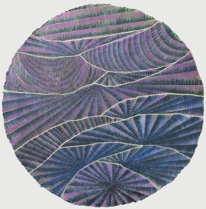 "Untitled  Davey Eldridge DY186 Watercolor on Paper 36"" Diameter"