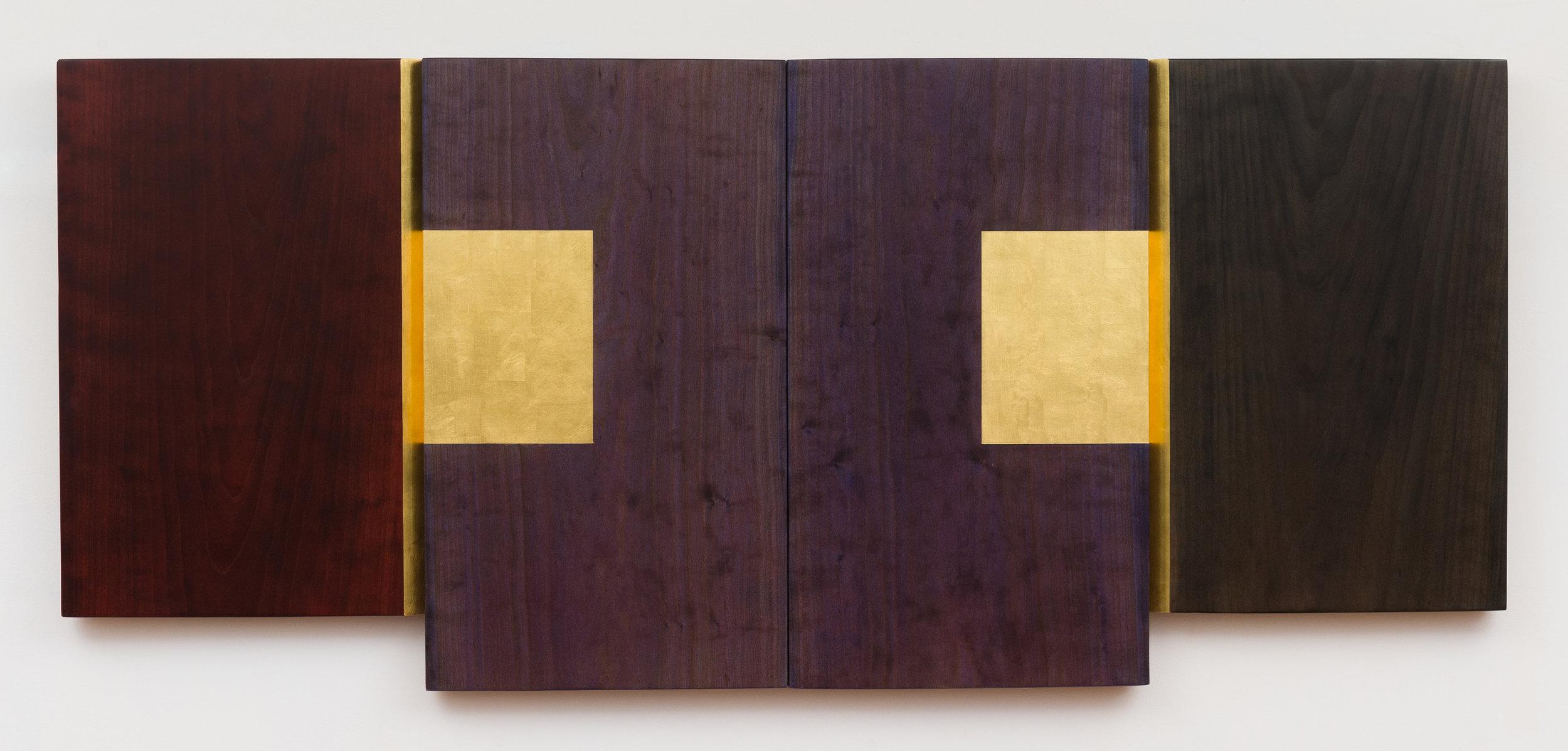 """Dream  Jeffrey Brosk JB190 Wood, Stain, Gold Leaf 30"""" x 68"""" x 2"""""""