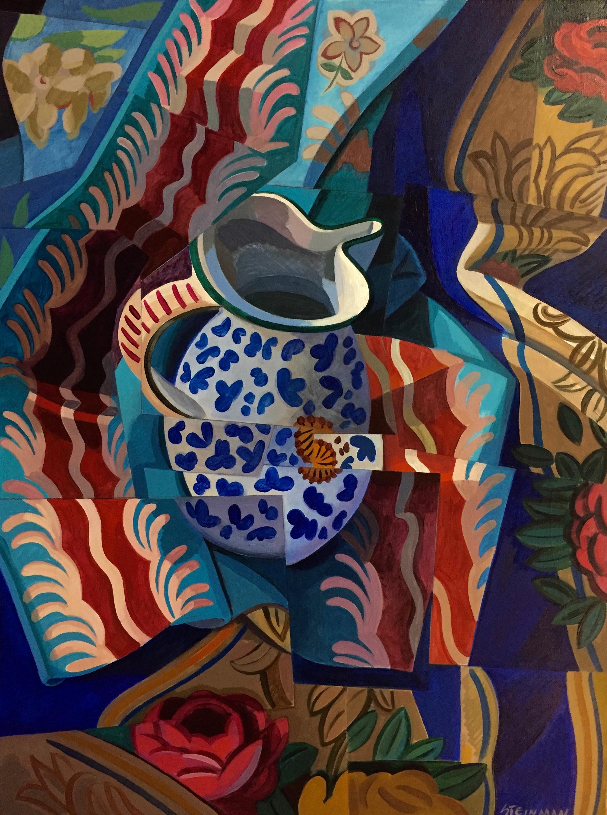 "Small S.L. IV 23  Joan Steinman ST Acrylic on Canvas 12"" x 18"""