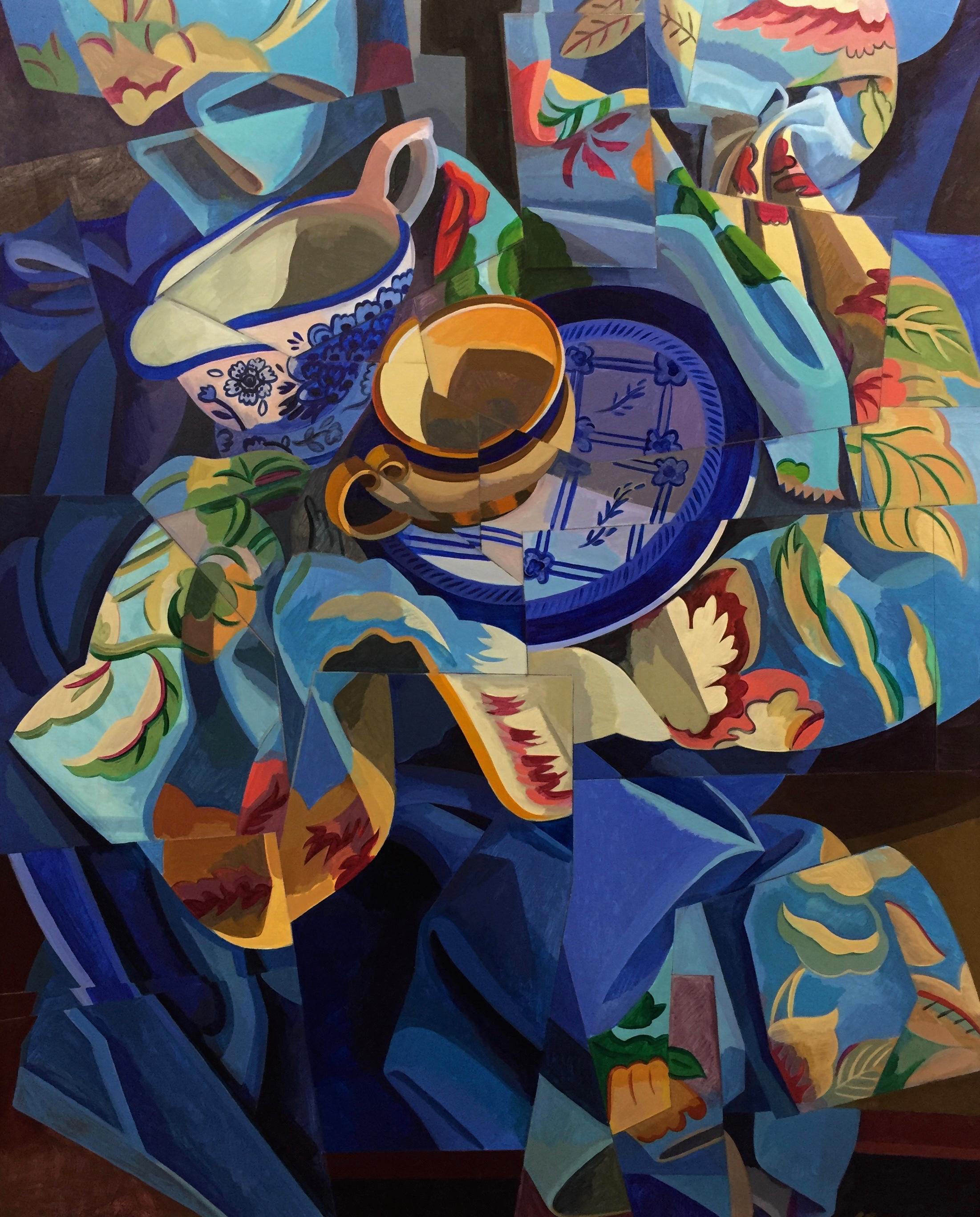 "Blue S.L.  Joan Steinman ST Acrylic on Canvas 30"" x 24"""
