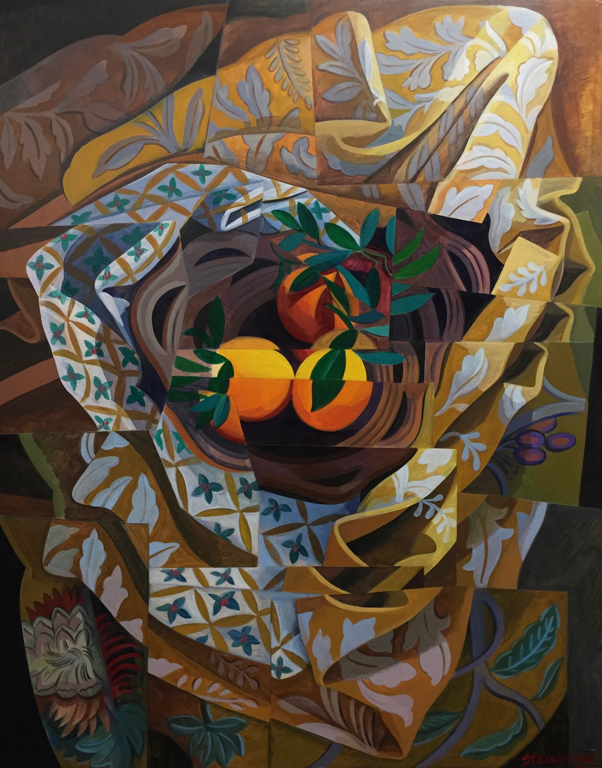 "Oranges  Joan Steinman ST Acrylic on Canvas 30"" x 24"""
