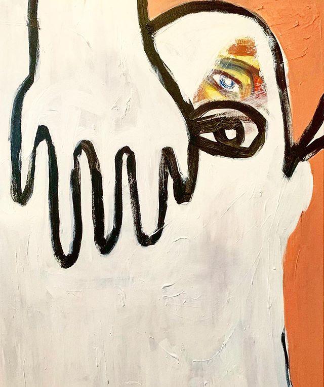 Nothing behind the scenes. . . . . . Acrylic on canvas  #shahryarshahamat  #humanonhuman