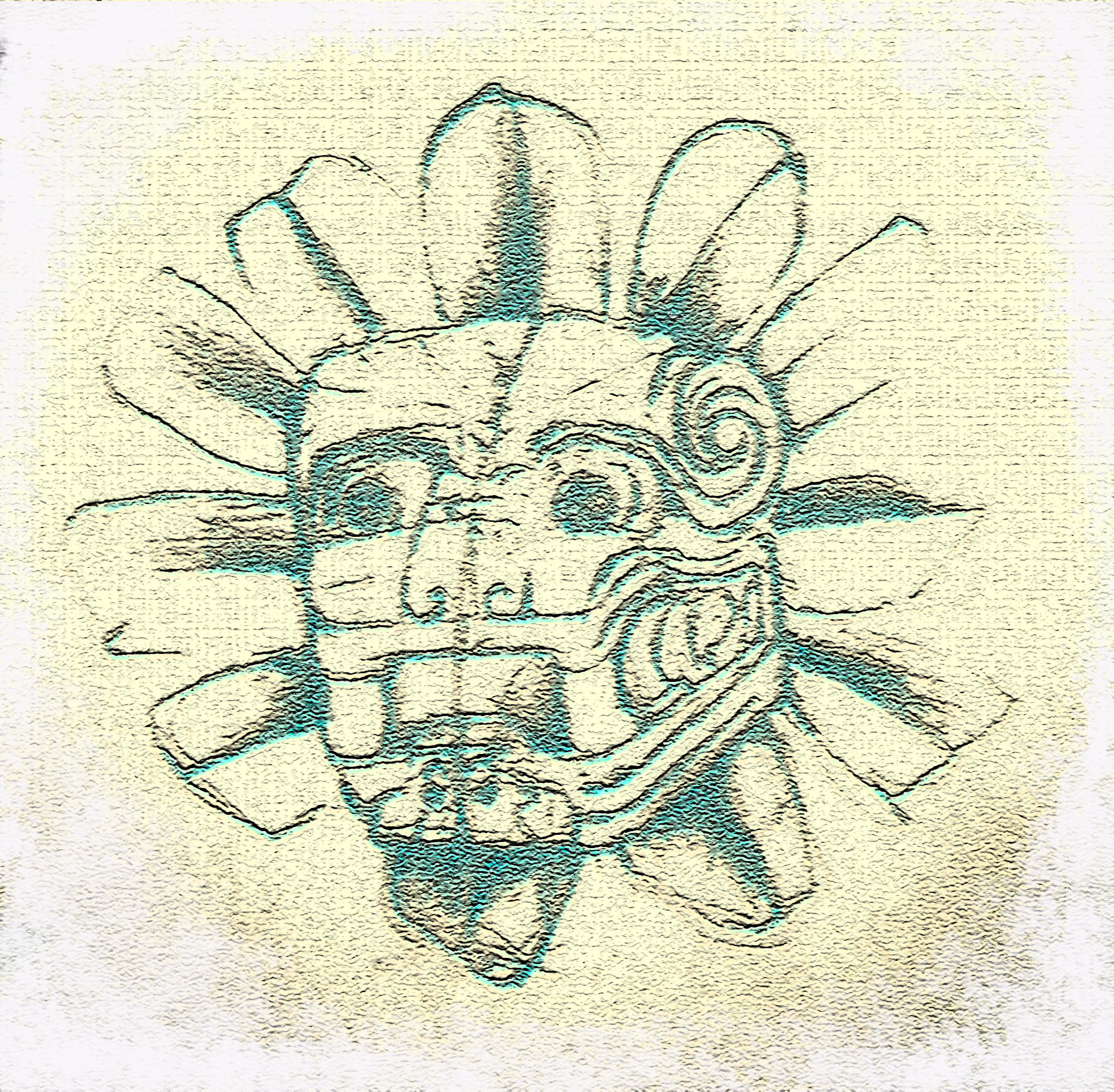 Feathered Serpent of Quetzale - Mayan Wall Relief sketch
