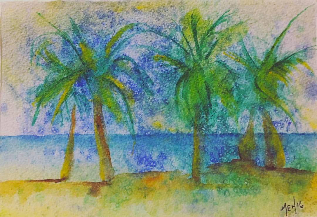 San Pedro, Belize  Saltscrubbed Watercolor