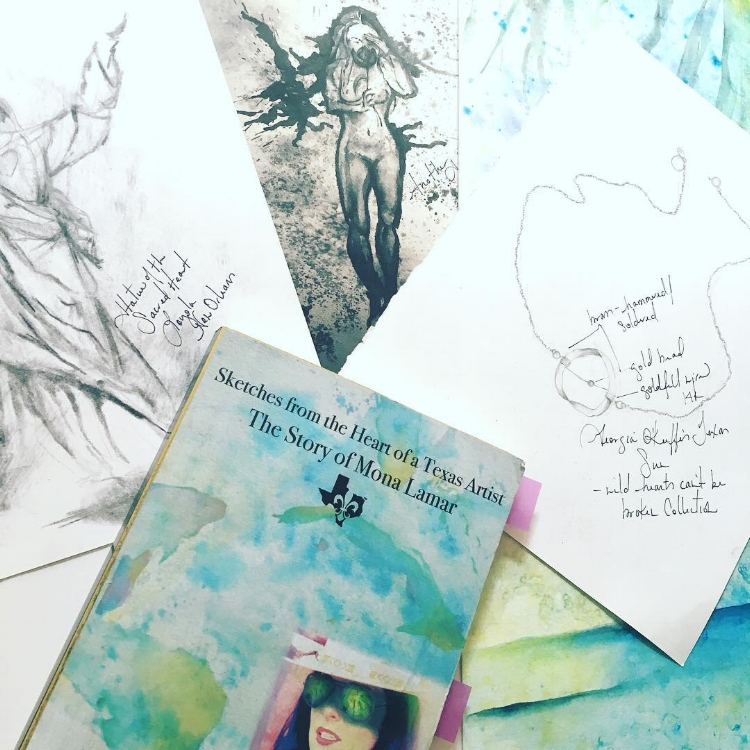 illustrations for my novel,  Sketches from the Heart of a Texas Artist
