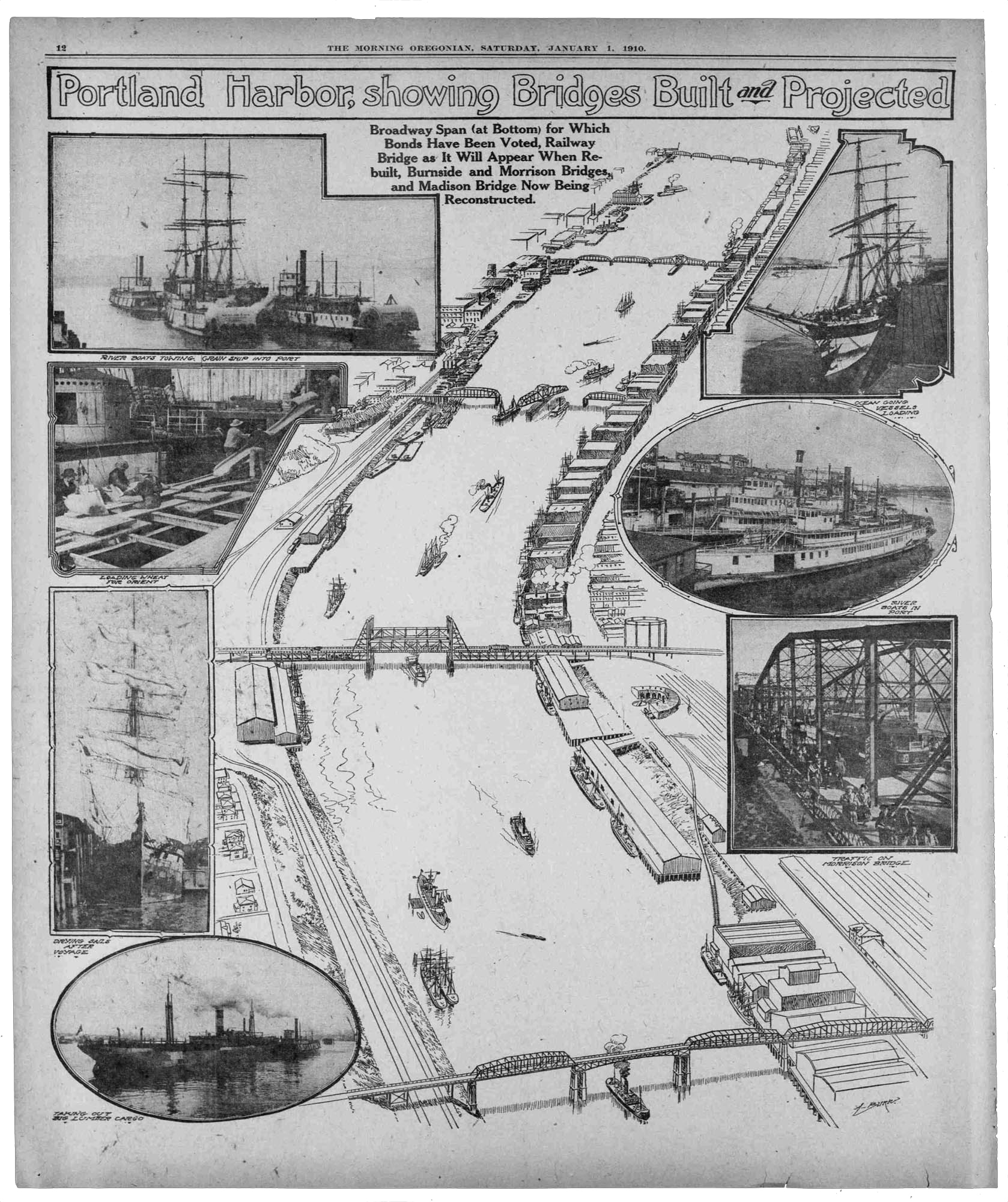 A poster from 1910 designed to build excitement for bridge construction. ( Via )