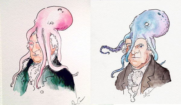 Vice President George Clinton, before and after.