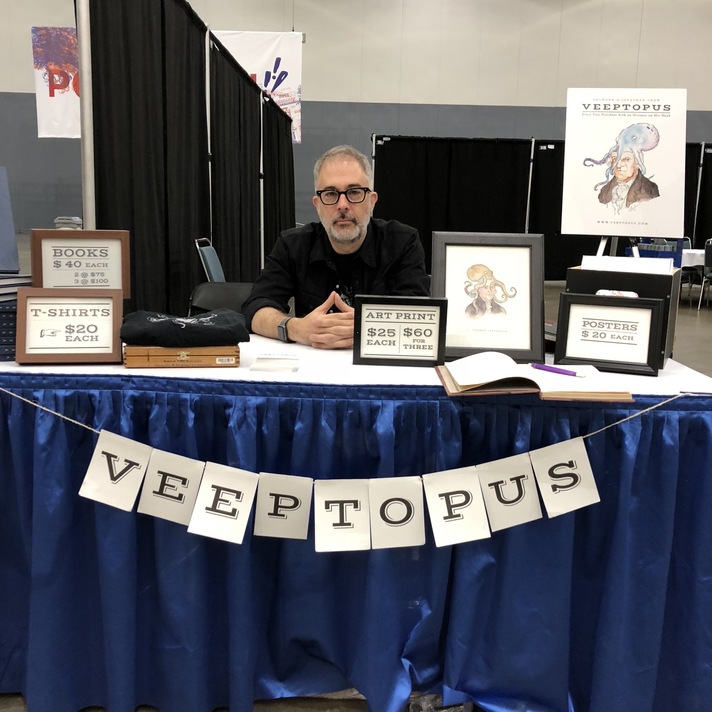 At the Veeptopus table. Photo: Ted Mills