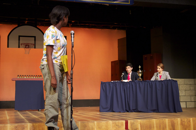 Audience volunteer Naya Foster has some questions for the judges.