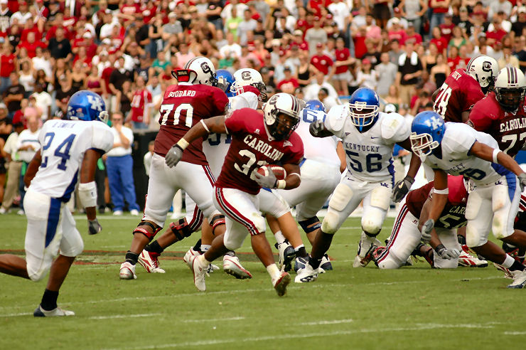 Staff Photo by C.J. Driggers: Daccus Turman led the Gamecocks with 81 yards on 18 carries against Kentucky.