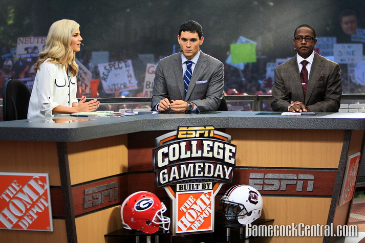 """Staff Photo by Paul Collins: The Gamecocks were hosting """"College Gameday"""" for the first time since 2010."""