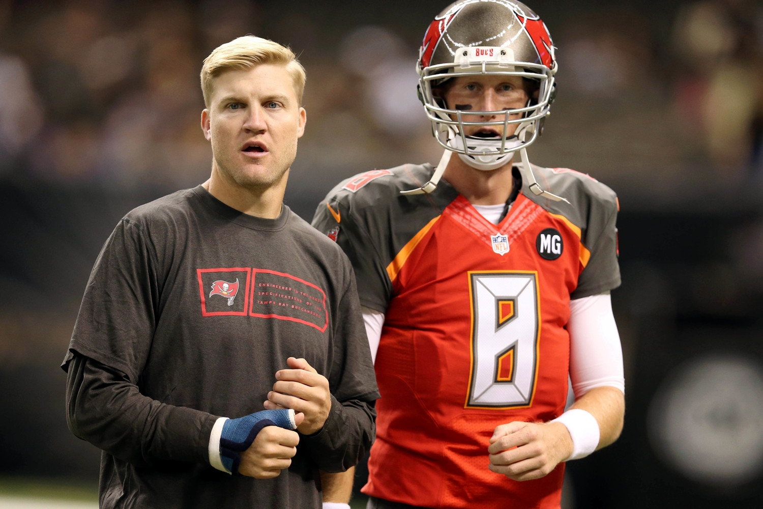 Mike Glennon, seen here with former child star Zachary Ty Bryan, or Josh McCown. Can't really tell.