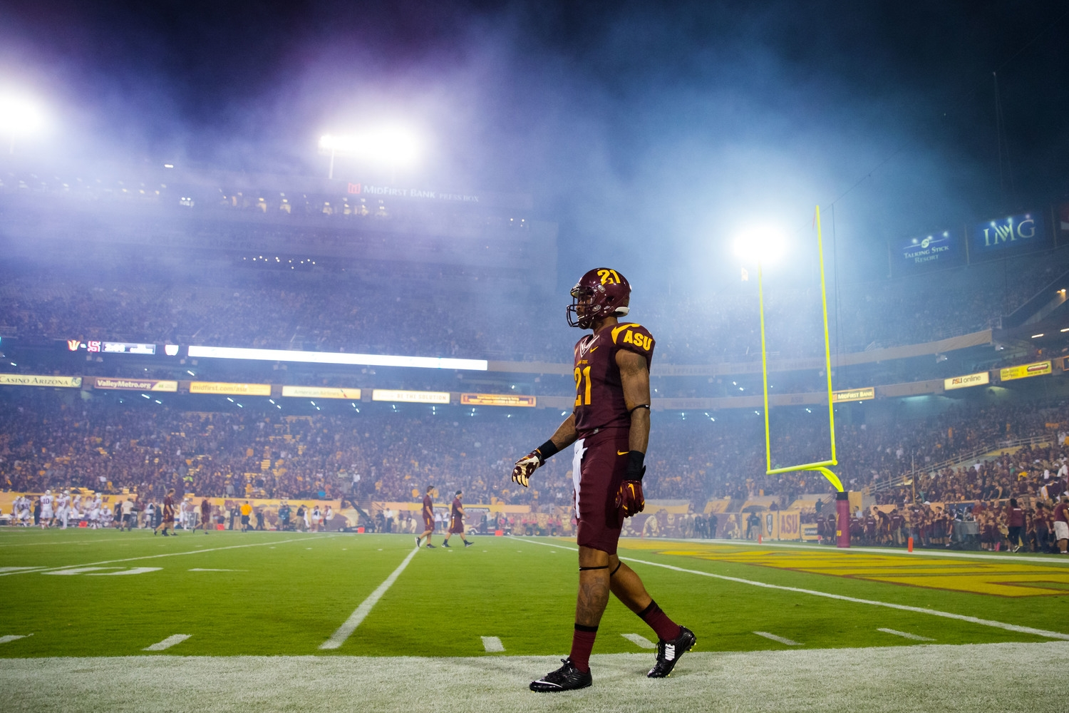Okay guys, I know they're the Sun Devils and you want to have a cool hell-like atmosphere or whatever, but do you really need to have such an enormous smoke machine budget?