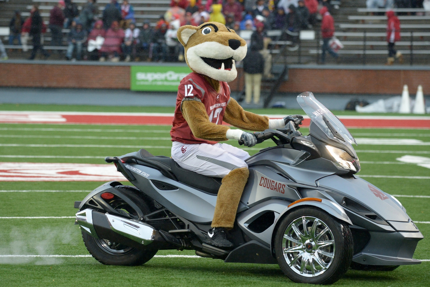 Okay, where did he get that brand new three-wheeler from? How is this not grounds for an NCAA investigation? I mean, aside from it being Washington State, a school that nobody cares about.