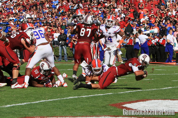Staff Photo by Paul Collins: Brandon Wilds helped lead the Gamecock rushing attack against Florida in 2012.