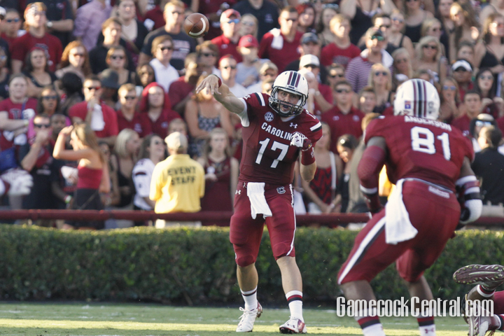 Staff Photo by C.J. Driggers: Thompson has thrown touchdowns to eight receivers, including Rory Anderson (81)
