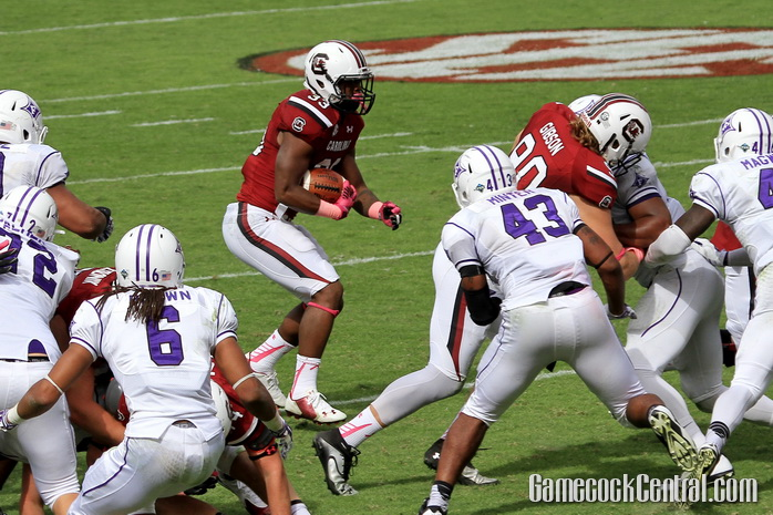 Staff Photo by Paul Collins: Williams rushed for 110 yards on 11 carries against the Paladins.