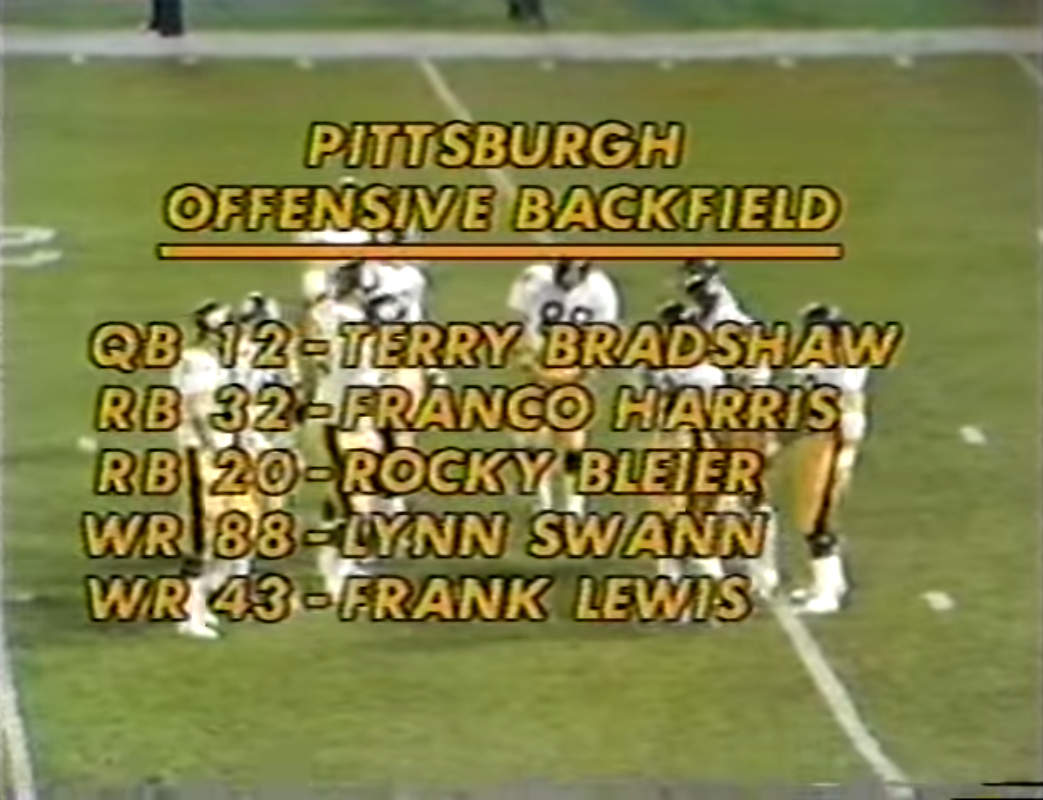 A wide receiver with the number 43? Why the hell don't ya give the number 88 to a punter, then! The 70s was a savage time.