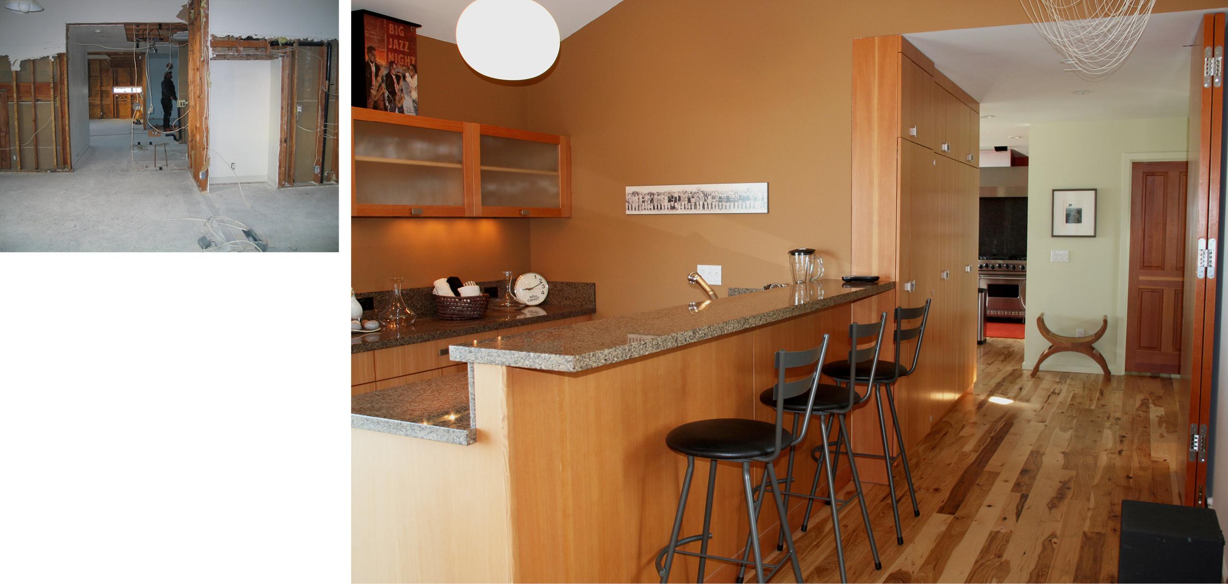 Entertainment/Bar to Kitchen