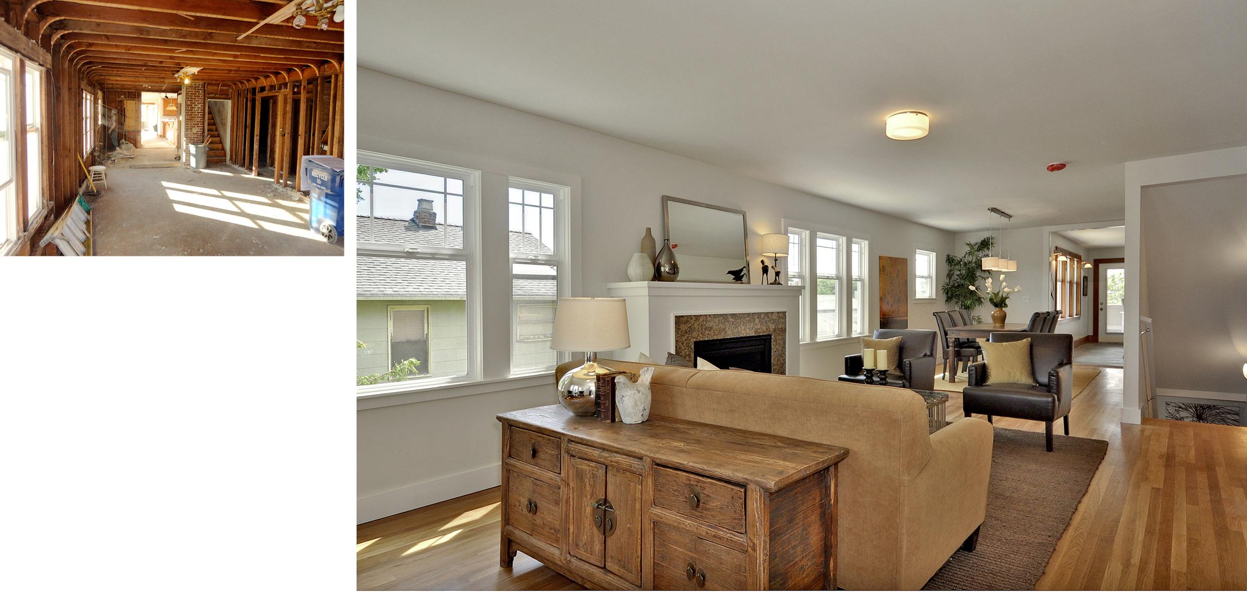 Living Room to Basement