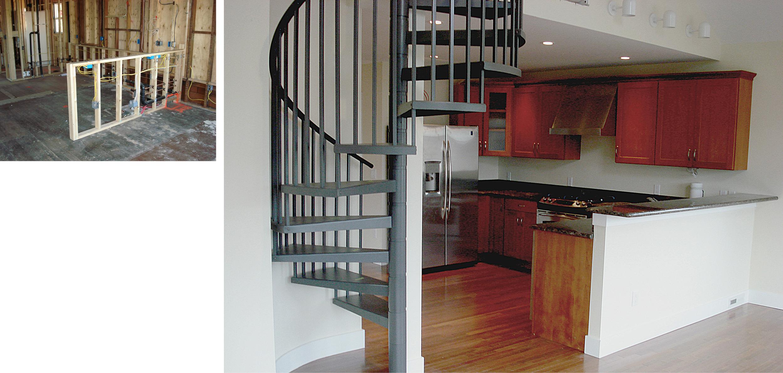 Upstairs Kitchen to Loft