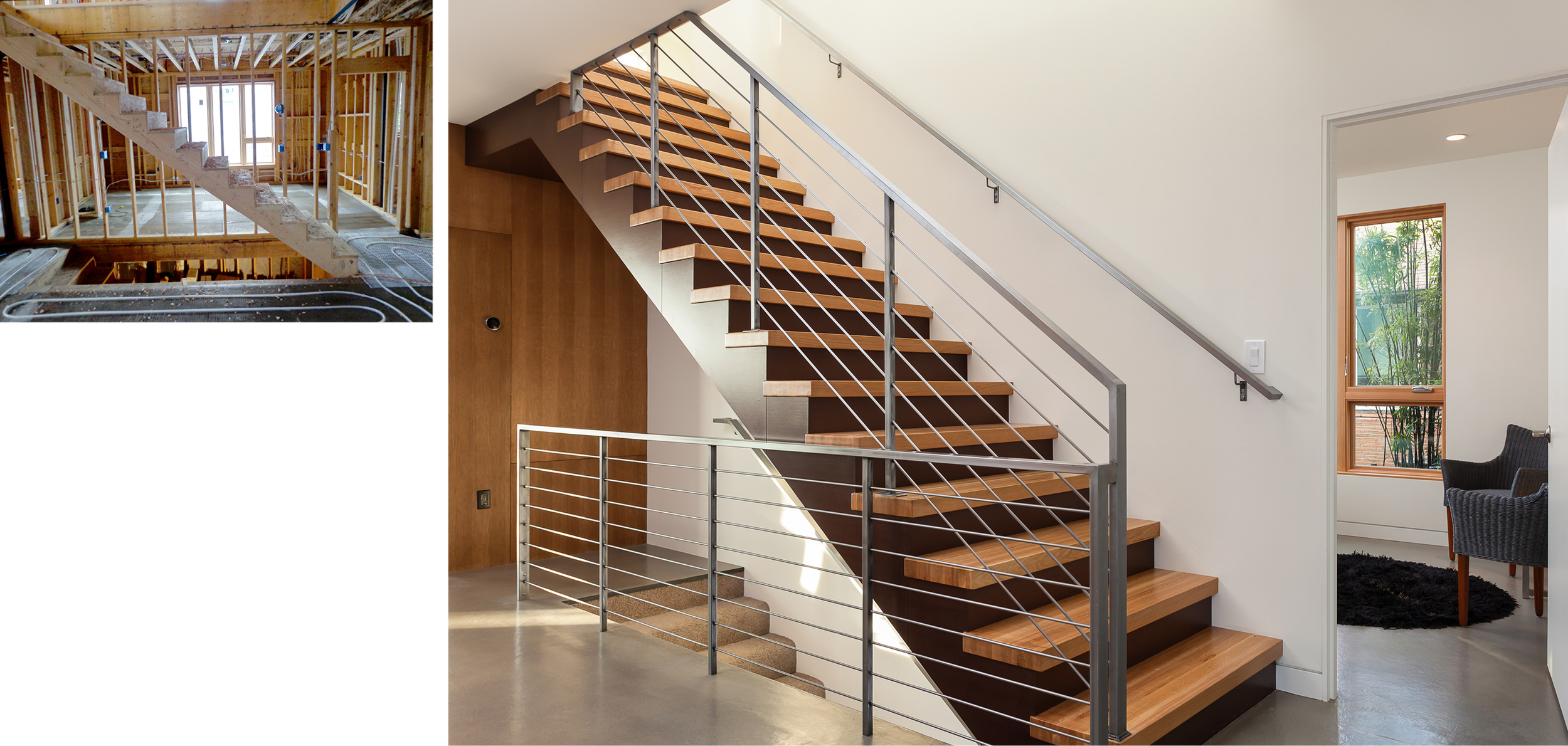 Center Staircase and Radiant Floor