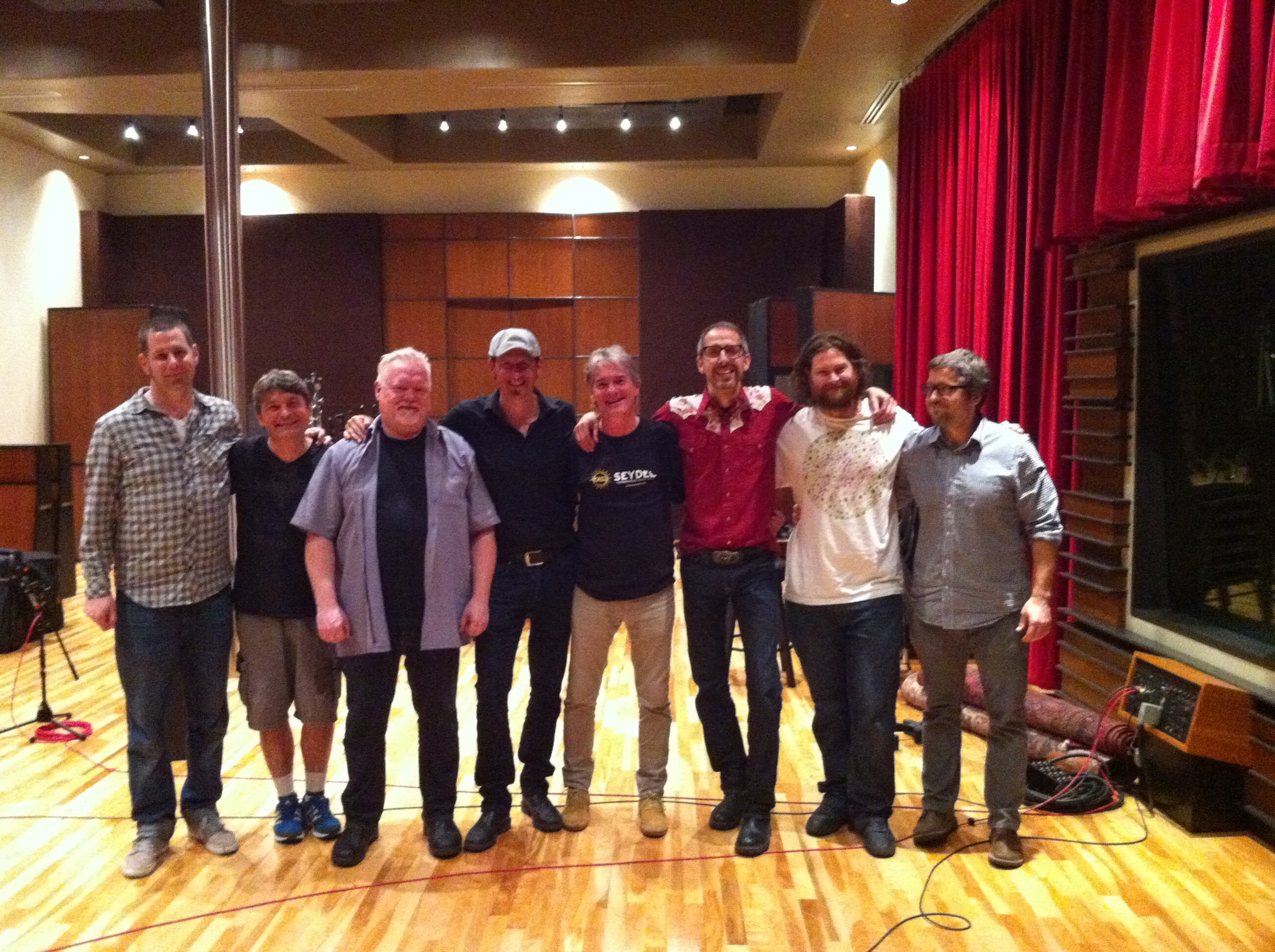 Guy Bélanger sessions @ Revolution Recording w/ Adam Warner, René Moisan, AlecFraser, Steve Strongman, Guy Bélanger, Myself, Stephen Koszler & Tim Abraham