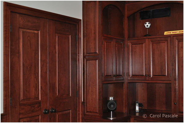 After - Cherry Woodgrained Doors