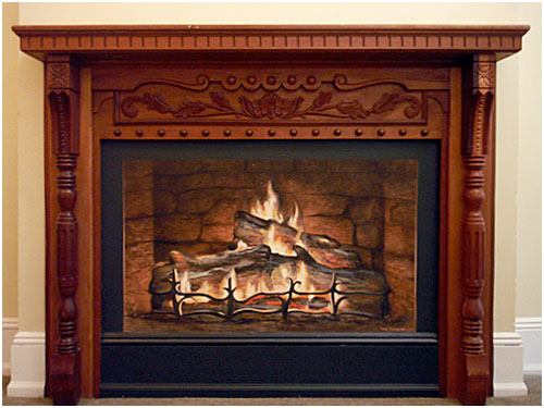 Fireplace Mural