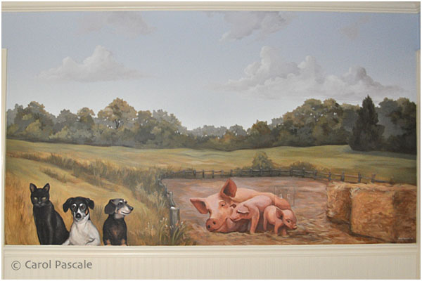 Pastoral Mural for a Nursery