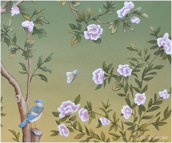 Hand painted chinoiserie