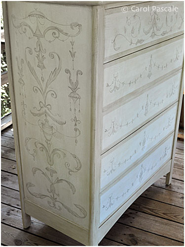 Italian Grottesca Painted Dresser
