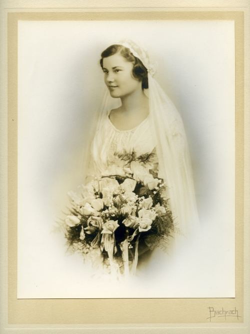 Alice in her wedding gown.    Source:   Historical Society of Dauphin County Collections
