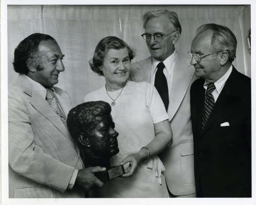 Alice receives the American Heritage Award, John F. Kennedy Library for Minorities, 1974   Source:  Historical Society of Dauphin County Collections