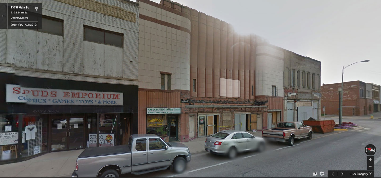The former home of the Capri V theater. Ottumwa, IA.