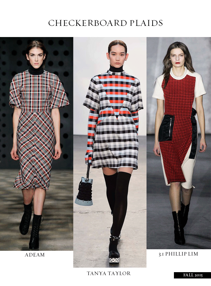 ROSE & IVY JOURNAL CHECKERBOARD PLAIDS NYFW FALL 2015 TRENDS