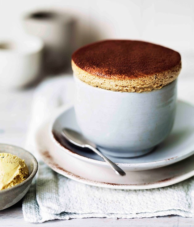 Milk Chocolate and Date Souffle