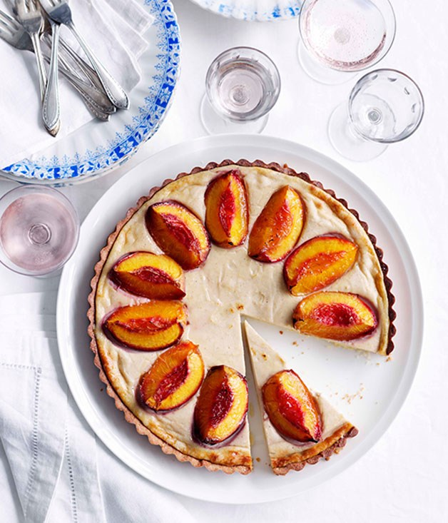 Nectarine and Spiced Ricotta Tart
