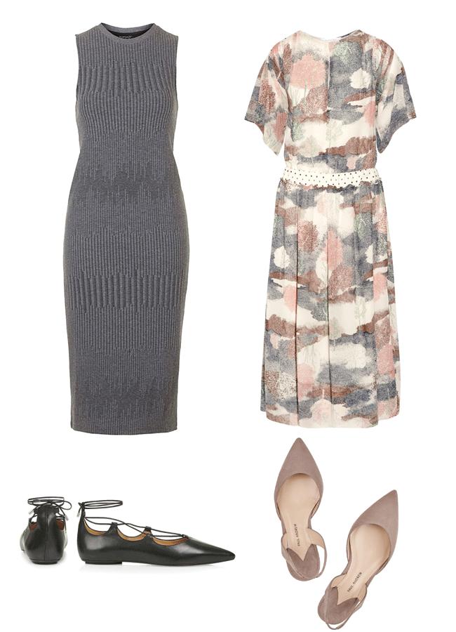 rose & ivy journal long dress + Flats