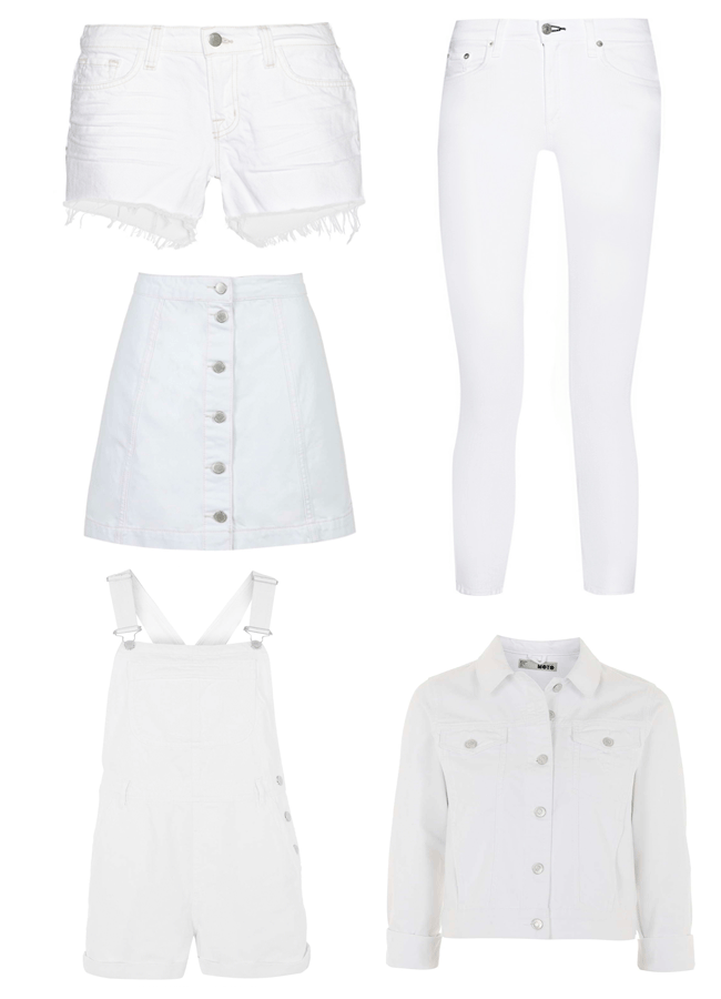 ROSE & IVY Journal Summer Style White Denim