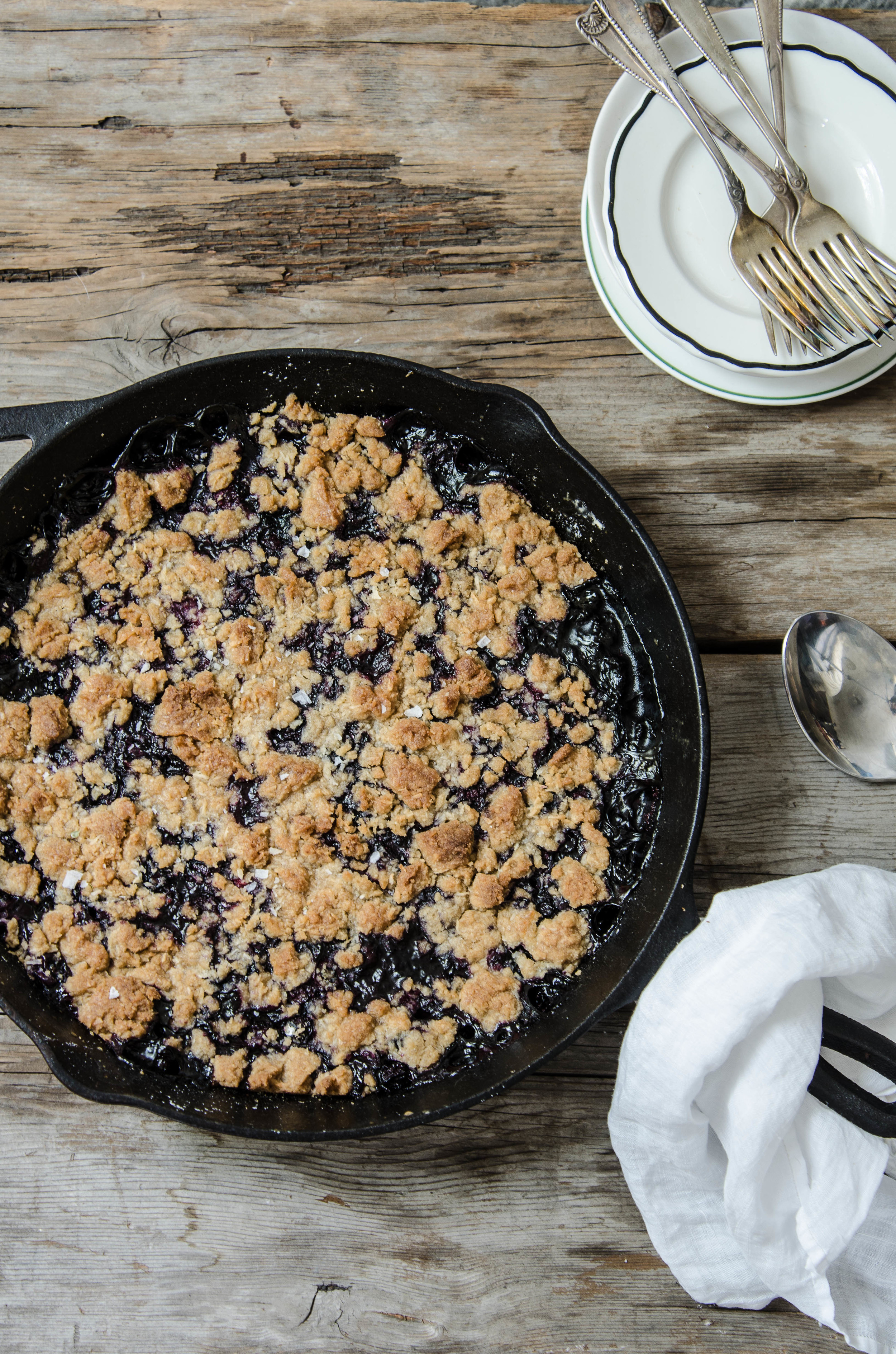 ROSE & IVY Journal Blueberry Coconut Crisp